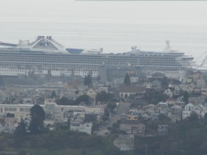 A cruise ship en la Bahía de San Francisco (on San Francisco Bay)
