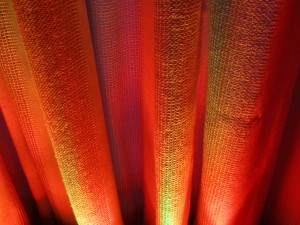 Orange LED Wash Lighting on Fabric