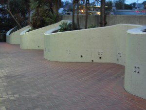 Benches above Harvey Milk Plaza removed
